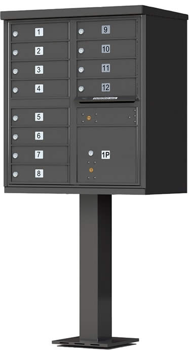 Heavy Duty Series Group Mail Boxes Type 2 in Dark Bronze