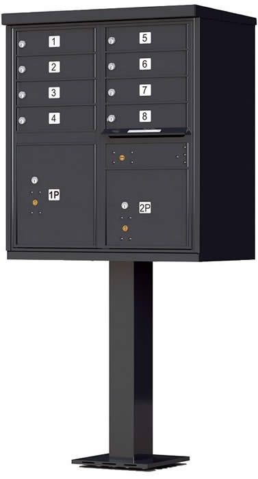 Heavy Duty Series Group Mail Boxes Type 1 in Black