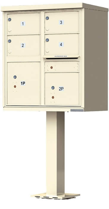 Heavy Duty Series Group Mail Boxes Type 5 in Sandstone