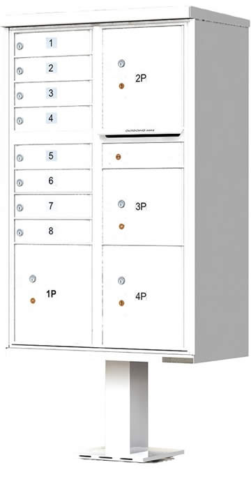 Heavy Duty Series Group Mail Boxes Type 6 in White